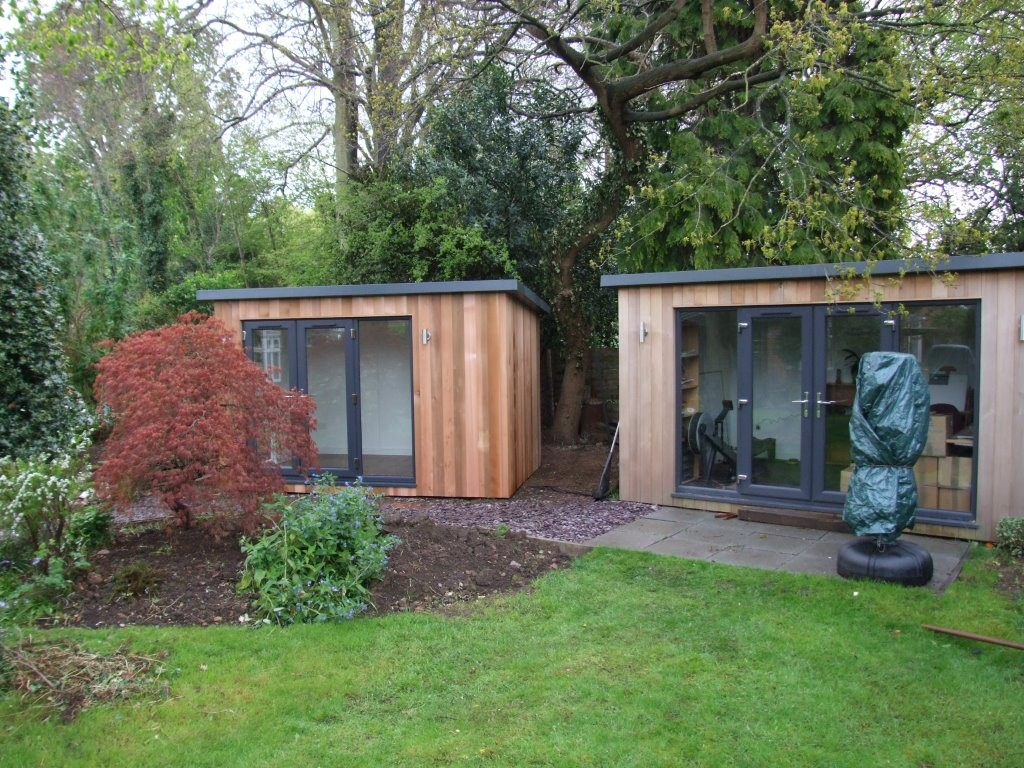 Contemporary Studios with overhang