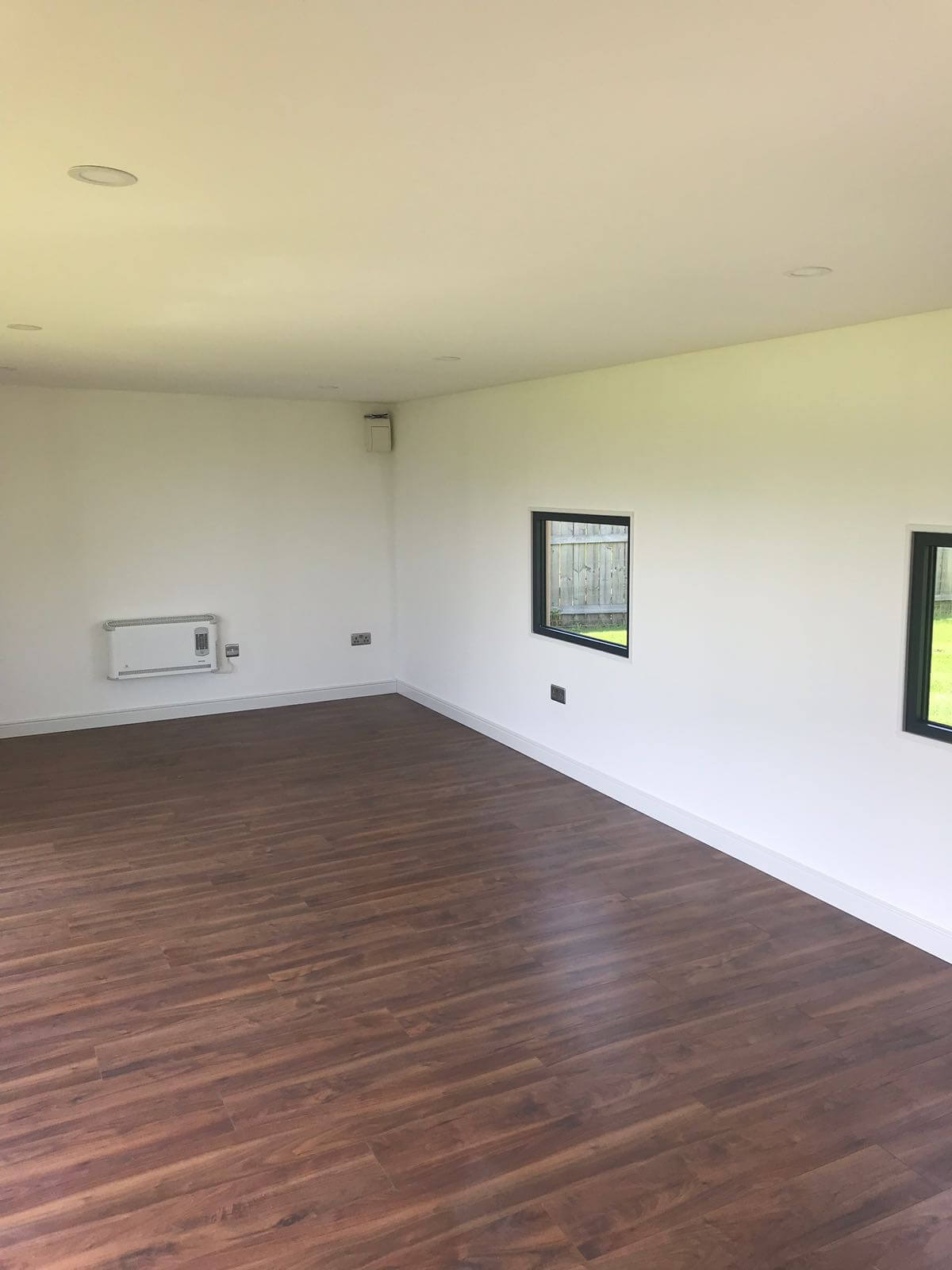 Plastered and painted finish interior